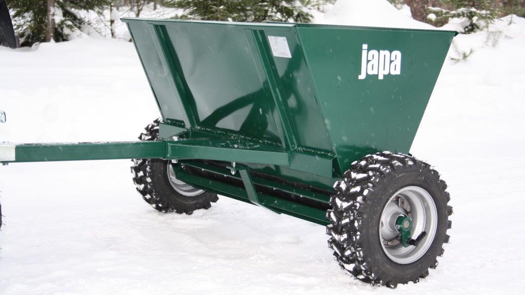 Velkams smilšu kaisītājs JAPA 215 ar ratu piedziņu